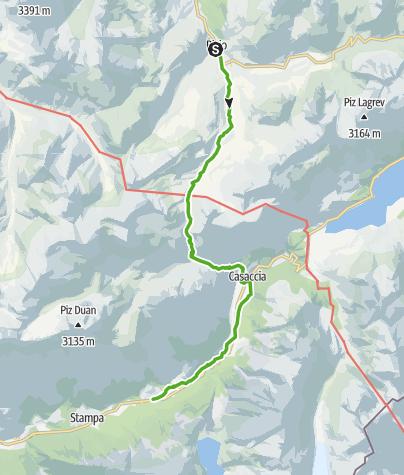 Map / 64.05 Bivio - Vicosoprano, ViaSett