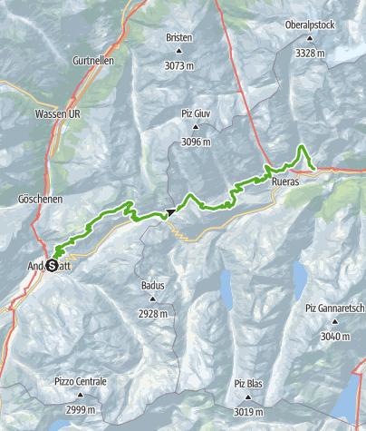 Map / 85.01 Andermatt - Sedrun, Senda Sursilvana