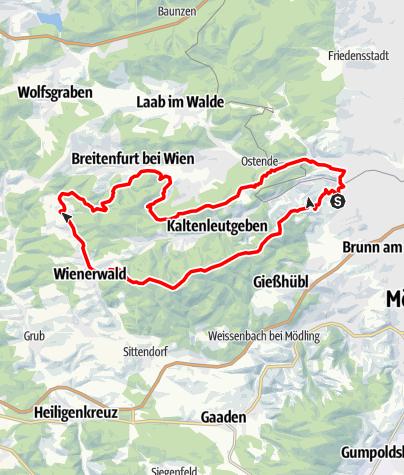 Karte / Parapluie Strecke
