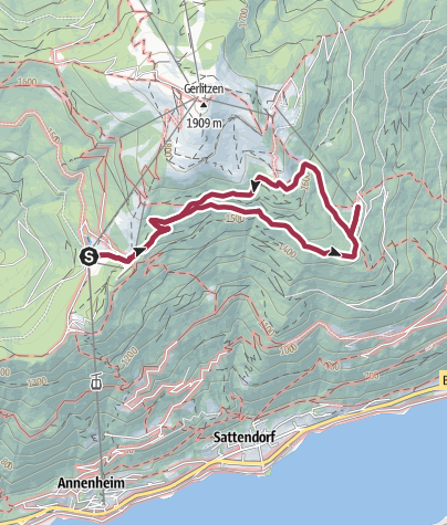 Map / The Seppl Hut Trail in the Gerlitzen Alps