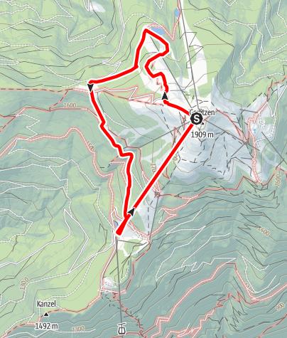 Karte / Wandern auf der Gerlitzen - Am Rundwanderweg vom Gipfel der Gerlitzen zur Wassererlebniswelt Neugarten Almsee