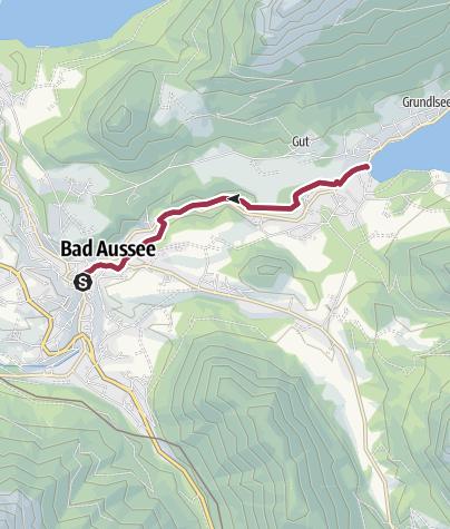 Karte / Kinderwagen-Tour: R. Eybner-Promenade nach Grundlsee