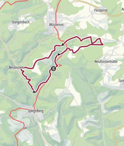 Karte / Idyllische Straße Tour M / Spiegelberg - Wilde Schluchten - Luftige Höhen