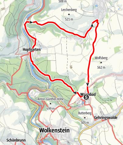 Karte / Auf Karl Stülpners Spuren