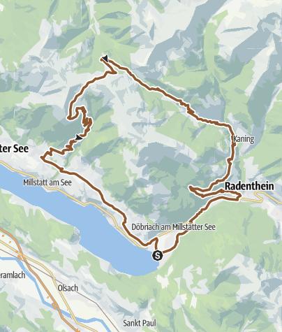 Karte / 49 Millstätter Alm Tour