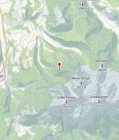 Karte / Gowilalm 1375 m