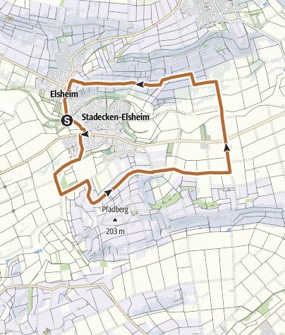 Karte / Panoramaweg Stadecken-Elsheim
