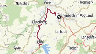 Map / Vogtland Panorama Weg® - Etappe 1