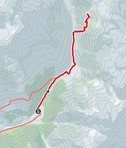 Karte / Normalzustieg zur Oberetteshütte
