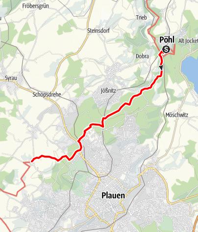 Map / Vogtland Panorama Weg® - Etappe 2