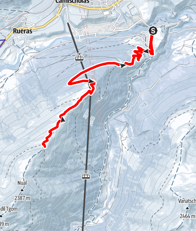 Map / Sedrun - Tgom  Gipfeltour