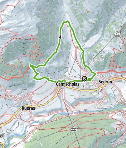 Map / Hike in the vicinity of Sedrun village