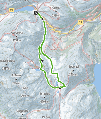 Map / Hike to the source of the Rhine and visit an Alpine hut.