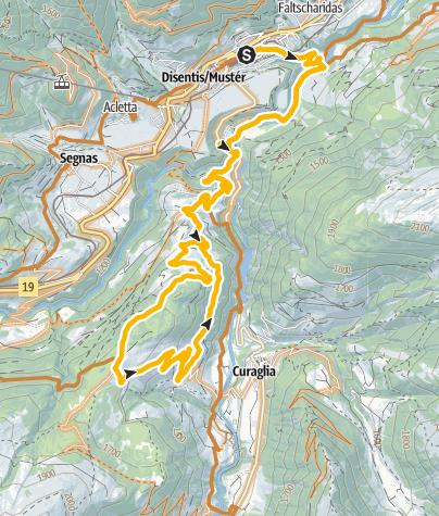 Map / Disentis - Lukmanierpass - Disentis