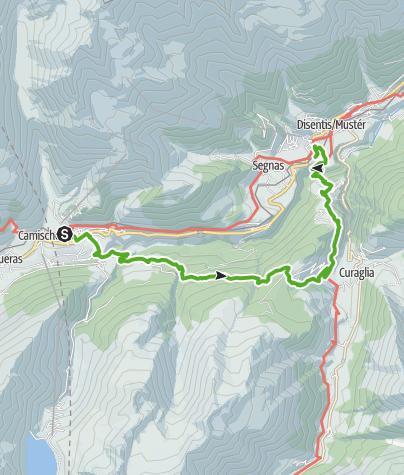 Map / Sedrun - Stagias - Disentis