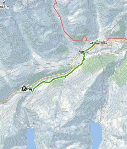 Karte / Familienwanderung Tschamut - Sedrun