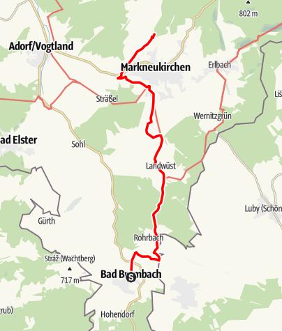Map / Vogtland Panorama Weg® - Etappe 7