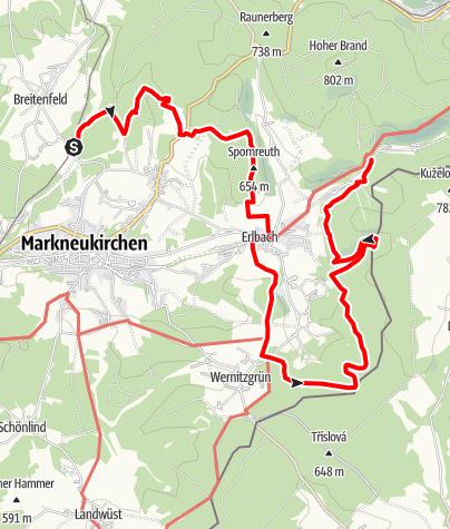 Map / Vogtland Panorama Weg® - Etappe 8