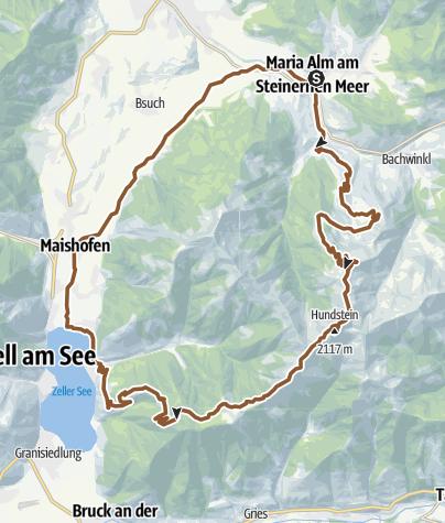 Karte / Hundstein-Runde (Tour Nr. 5)