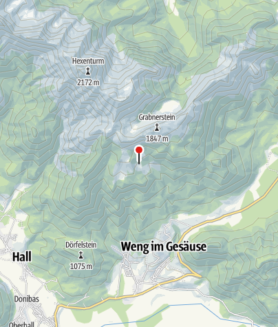 Karte / Blick über die Grabneralm 1395 m