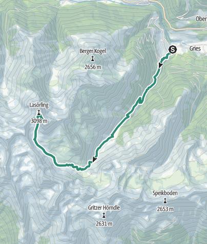 Karte / Lasörlinggruppe (1) Gr. Lasörling 3098 m mit Gratübergang zum Kl. Lasörling 3055 m