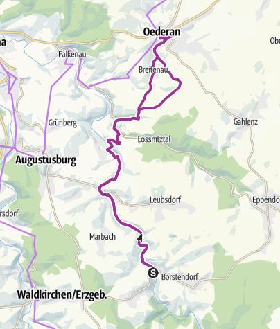 Karte / Unterwegs im Flöhatal nach Oederan