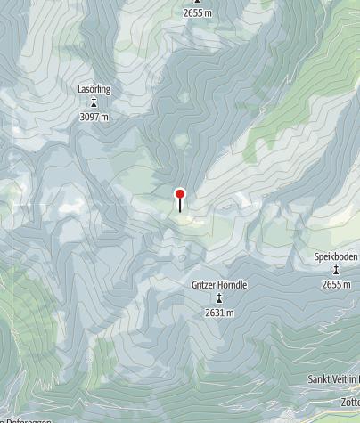 Karte / Lasörlinghütte 2296 m
