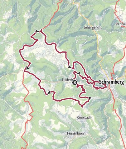 Karte / Lauterbacher Wandersteig