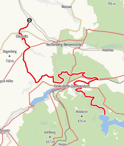 Karte / Grenzüberschreitender Lehrpfad - Neugrabenflöße