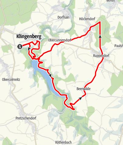 Karte / Mit dem Rad am Wasserglas von Dresden