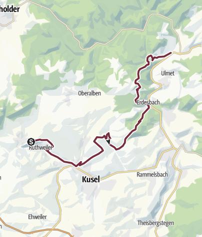 Karte / Veldenz-Wanderweg - Etappe 1 (Burg Lichtenberg - Rathsweiler) - Leading-Quality-Trail - Best of Europe