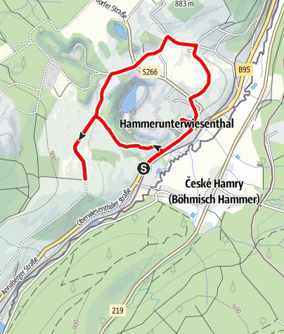 Karte / Entdeckerpfad Hammerunterwiesenthal
