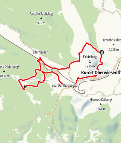 Karte / Jens-Weißflog-Tour