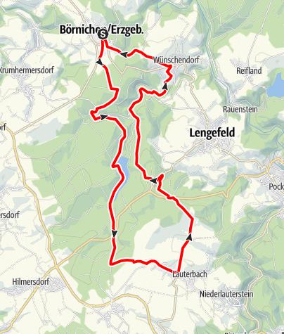 Karte / Mit dem Mountainbike unterwegs: Börnichen -Bornwald - Heinzewald - Kalkwerk