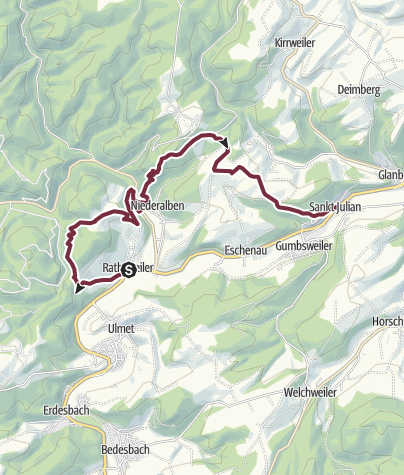 Map / Rathsweiler - St.Julian - Veldenz-Wanderweg - Stage 2 (Leading-Quality-Trail - Best of Europe)