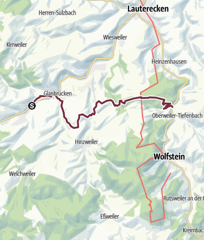 Karte / Veldenz-Wanderweg - Etappe 3 (St. Julian - Reckweilerhof) - Leading-Quality-Trail - Best of Europe