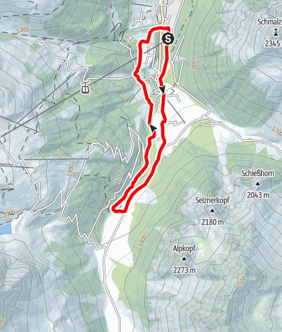 Karte / Valzifenz-Lauf Gargellen