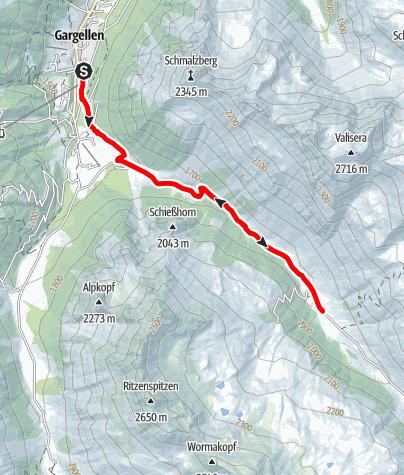 Karte / Edelweiß-Tour Gargellen