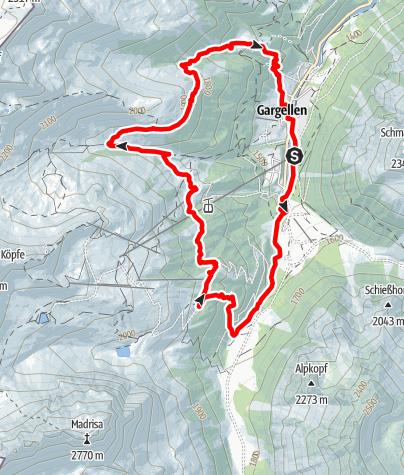Karte / 3-Alpen-Runde Gargellen
