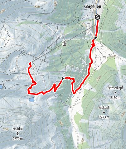 Karte / Schafberg-Lauf Gargellen