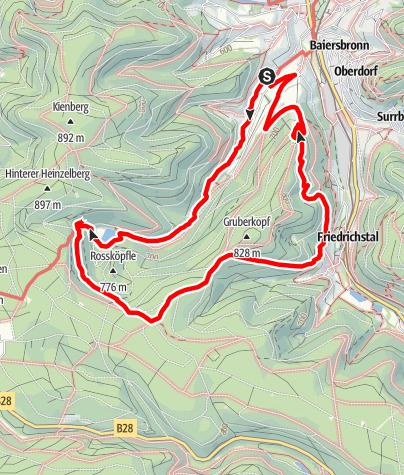 Karte / Genießerpfad - Baiersbronner Sankenbachsteig