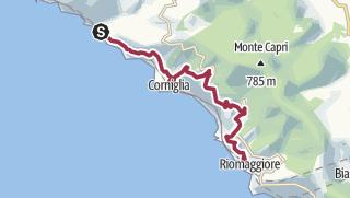 Cartina / Da Vernazza a Riomaggiore