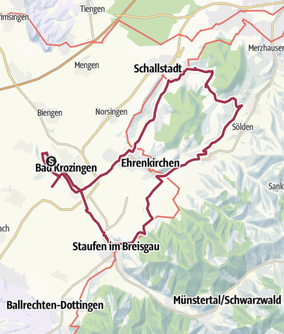 Carte / Bad Krozingen - EB 03 - Hexental, Schönberg und Schneckental